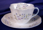 Click to view larger image of Shelley Blue Rock Dainty cup & saucer (Image1)