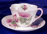 Click to view larger image of Shelley Dainty Thistle cup & saucer (Image1)