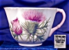 Click to view larger image of Shelley Dainty Thistle cup & saucer (Image3)