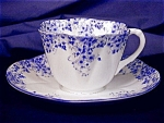 Click to view larger image of Shelley Dainty Blue cup & saucer (Image1)