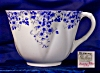 Click to view larger image of Shelley Dainty Blue cup & saucer (Image2)