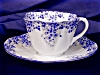 Click to view larger image of Shelley Dainty Blue cup & saucer (Image4)