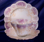 Wileman Snow Drop Cameo trio in mauve & beige