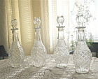 Decanters Liquor 1950 set of Four