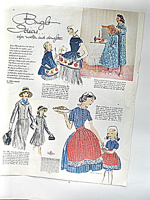 Vintage Ladies Home Journal Ad for Vogue Apron Patterns (Image1)