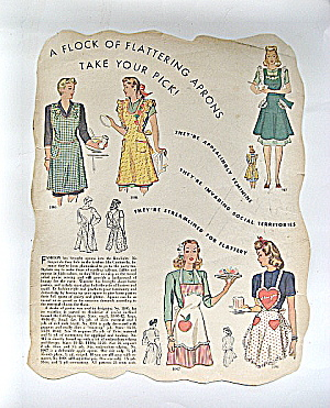 1944 Vintage Mccall's Needlework Apron Pattern Ad