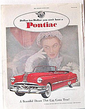 Auto Ads 3 Vintage Chevy,Ford,Pontiac 1950 & 60s (Image1)