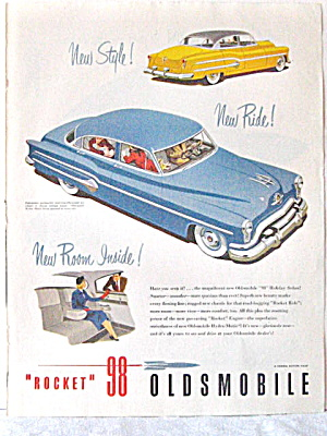 Auto Ads-rare1950 Mercury,1952 Dodge,1961 Rocket '98 Olds