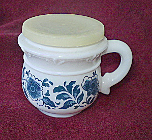 Avon Delft Blue/white Milkglass Jar