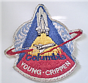 Nasa Columbia Rocket Vintage Badge  (Image1)