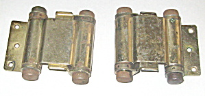 Spring Hinges Brass Set Of 2 Vintage