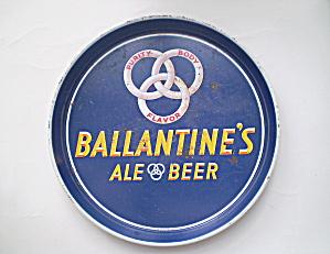 "Ballantine Beer & Ale Vintage Round 12"" Tray (Image1)"
