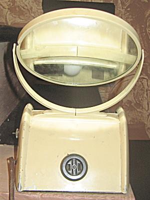 Shaving Mirror with Light Vintage Art Deco (Image1)