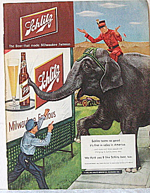 Beer,spirits Ads 1950s Schlitz, Corby's,cointreau,teacher's