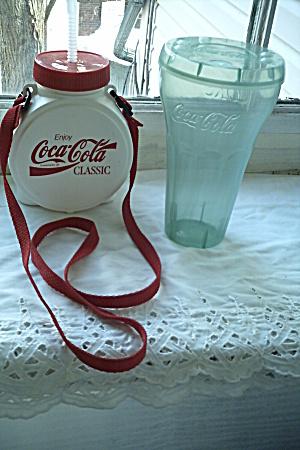 Vintage Coca Cola Memorabilia Set/Canteen & Cup (Image1)