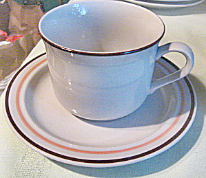 Vintage Countryside Stoneware Cup and Saucer (Image1)