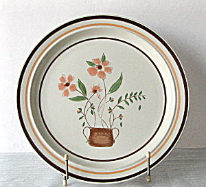 Vintage Countryside Stoneware Set Of 2 Dinner Plates