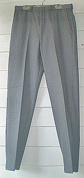 Farah Mens Dress Slacks 1970s Grey Wool Flannel  (Image1)