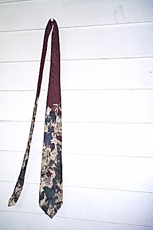 Van Heusen Mens Tie Vintage  417 100% Silk  (Image1)