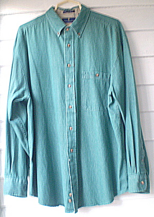 Vintage Bill Blass Mens Cotton Designer Shirt (Image1)