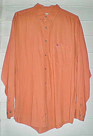 Vintage Orange Eddie Bauer Button Down Shirt (Image1)