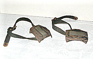 Metal Ice Cracker Tie -ons For Shoes Vintage 1950