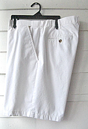 Vintage croft & barrow Mens White Cotton Shorts (Image1)