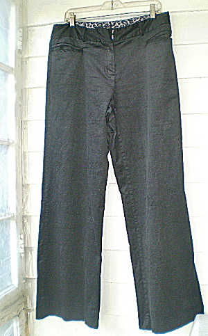 Bellbottoms Willi Smith Designer Ladies Blk Velveteen