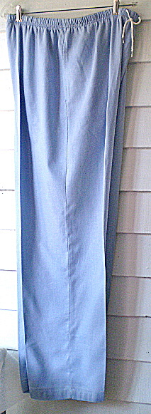 Vintage Powder Blue Irish Linen Womens  Casual Slacks (Image1)
