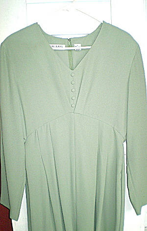 Vintage (Maternity) Womens Mint Green Holiday Dress