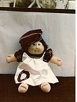 Cabbage Patch White Satin Doll Dress and Hat (Image1)