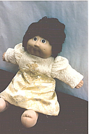 Cabbage Patch Doll Brocade and Crepe Party Dress (Image1)
