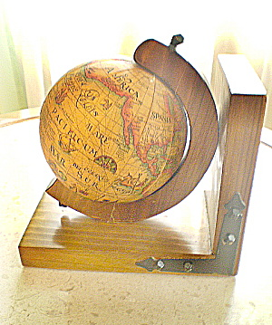 Antique Wooden Globe Bookend (Image1)