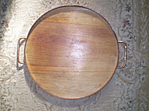 Sturditoys Tray Hammered Copper And Wood Vintage