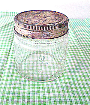 Hazel Atlas Half Pint Clear Glass Fruit Jar 1930 (Image1)