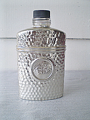 Old Spice Silver Coated Admirals Flask 1988 (Image1)
