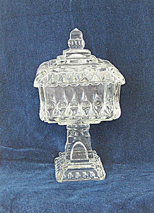 Westmoreland Wedding Bowl Antique Clear Diamond Hobnail (Image1)