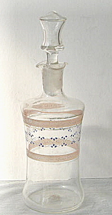 1960 Numbered Hand Blown Wine Decanter W/ Enamelling