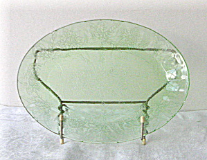 Depression Glass 1930 Green Small Oval Platter