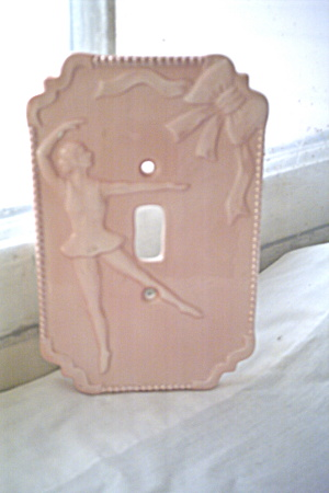 Switchplate Vintage Ceramic Ballerina