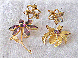 Vintage Amethyst Brooch and Pin  (Image1)