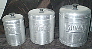 Kitchen Cannisters 1950s Aluminum