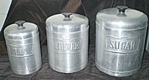 Kitchen Cannisters 1950s Aluminum  (Image1)