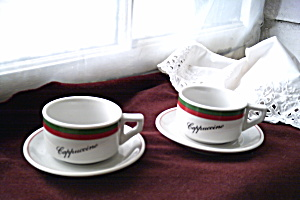 Expresso/Cappucino Cups- Int House of Coffee Premium 1975  (Image1)
