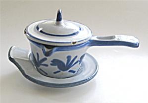 Cast Iron Butter Warmer  Enameled Vintage (Image1)
