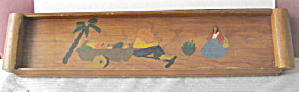 Kitchen Collectible 1939 Mexican Wooden Drink Tray (Image1)