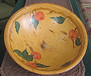Rio Grande Handpainted Woodenware Bowl Vintage (Image1)