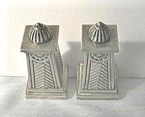Salt & Pepper Shakers  Silver Electroplate Columnar 1950 (Image1)