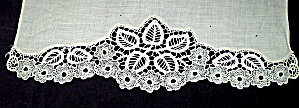 Needle Lace Trim Vintage Off White Handmade (Image1)