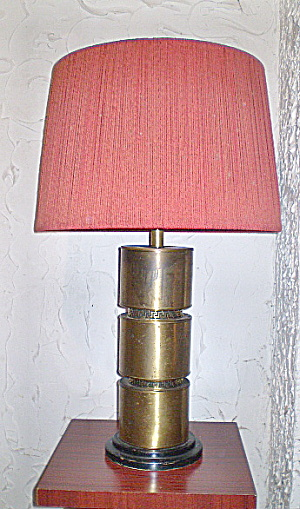 Mid-Century Modern Large Brass Lamp w/greek key Design (Image1)